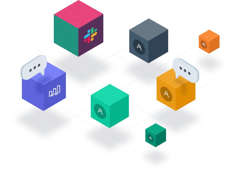 Colourful cubes with different Morphio features on them